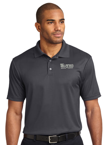 Embroidered Performance Jacquard Polo - Men's