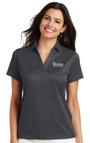 Embroidered Performance Jacquard Polo - Ladies'