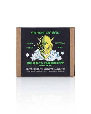 Devil Harvest Hemp Soap Bar 3 Pack