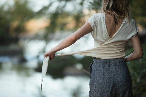 Wrap Top | Raw Silk