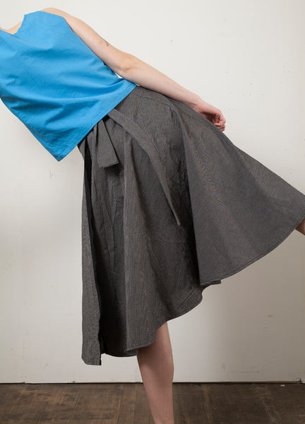 Bias Cut Wrap Skirt