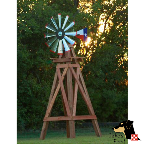 11'  WOODEN WINDMILL