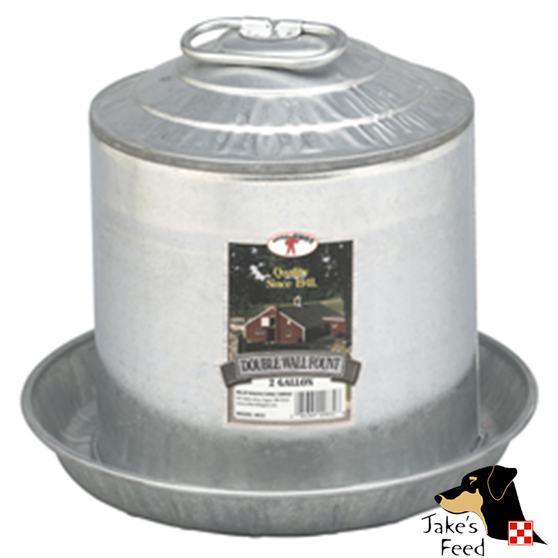 POULTRY WATERER 2 GALLON GALVANIZED