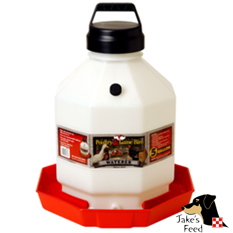 POULTRY WATERER PLASTIC 5 GALLON