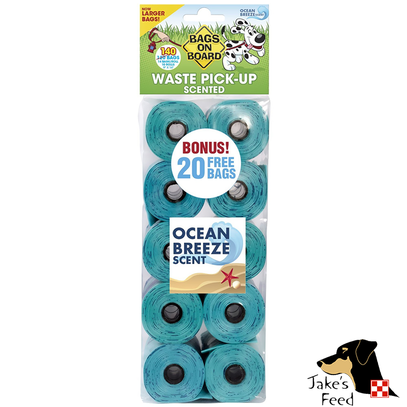 BAGS ON BOARD WASTE PICK-UP REFILL BAGS OCEAN BREEZE 10 ROLLS