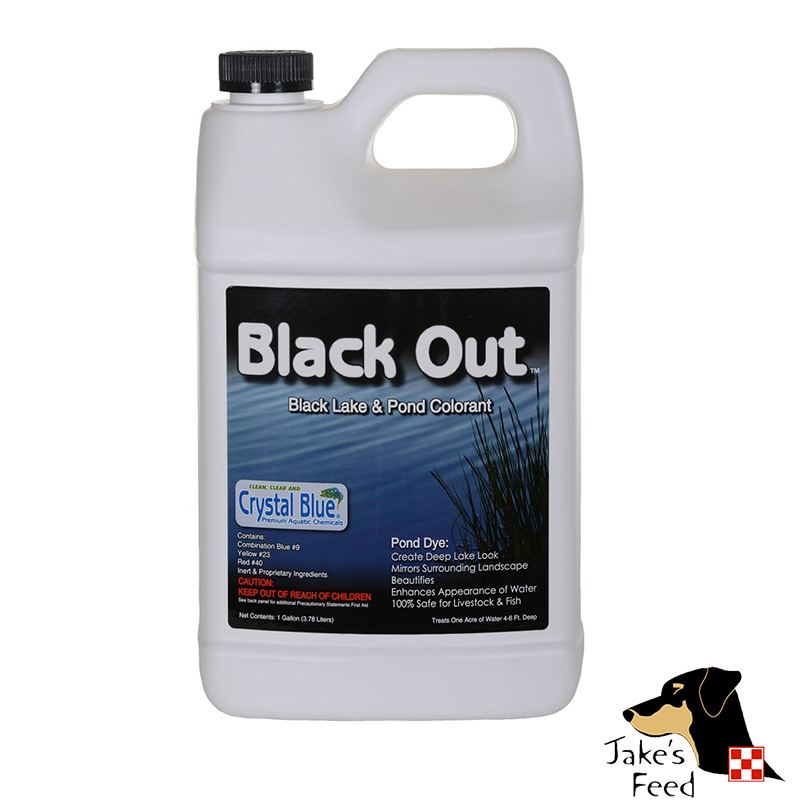 CRYSTAL BLUE BLACK OUT POND COLORANT GALLON