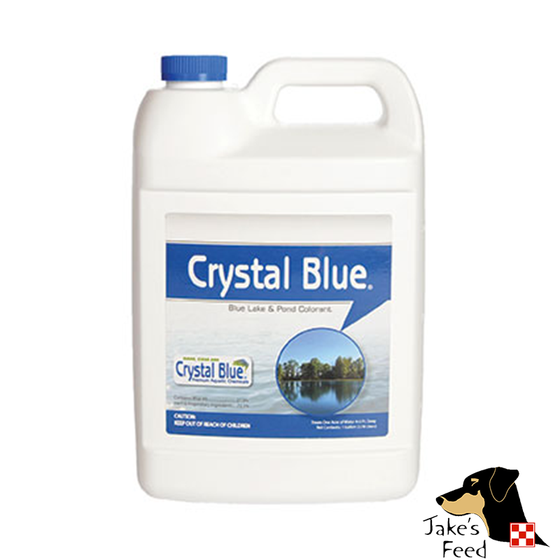 CRYSTAL BLUE LAKE  POND COLORANT GALLON