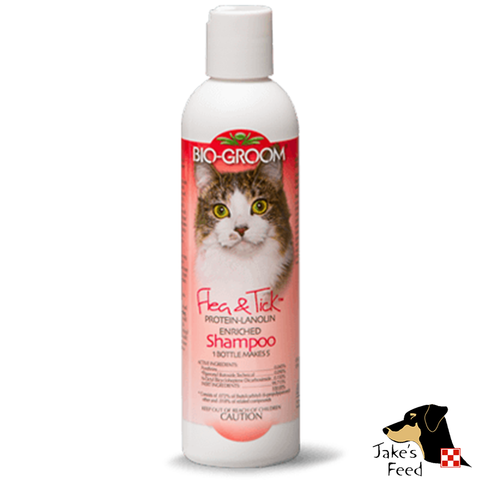 BIO-GROOM FLEA AND TICK CAT SHAMPOO CONCENTRATE 12 OZ.
