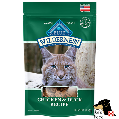 BLUE BUFFALO WILDERNESS Chicken & Duck Cat Treats 2oz