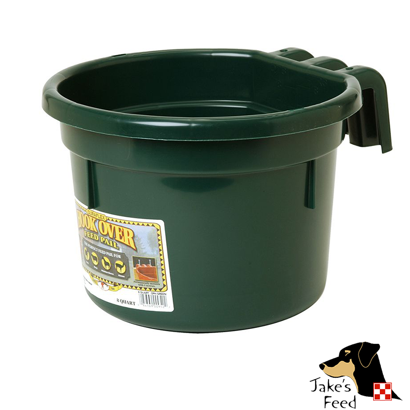 8 QUART PLASTIC HOOKOVER FEEDER Jakes Feed And Animal Center