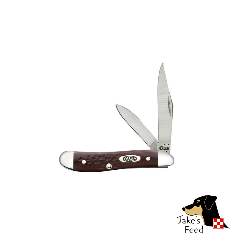 CASE KNIFE BROWN SYNTHETIC PEANUT SS