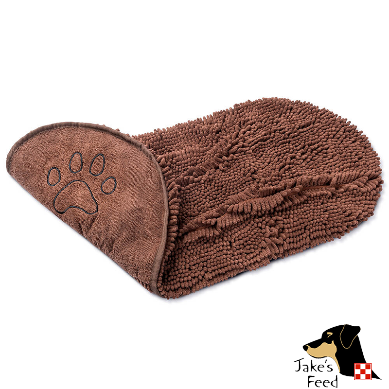 DOG GONE SMART DIRTY DOG SHAMMY TOWEL 13 X 31 BROWN