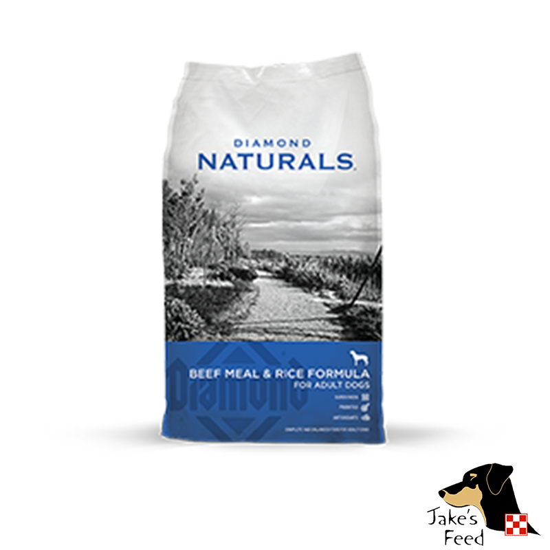 DIAMOND NATURALS Beef and Rice Dog Food 40#