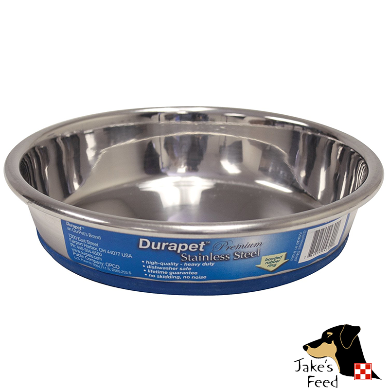 DURAPET STAINLESS STEEL CAT DISH 8 OZ.