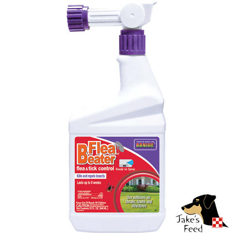 BONIDE FLEA BEATER FLEA & TICK CONTROL HOSE END SPRAYER 32 OZ.