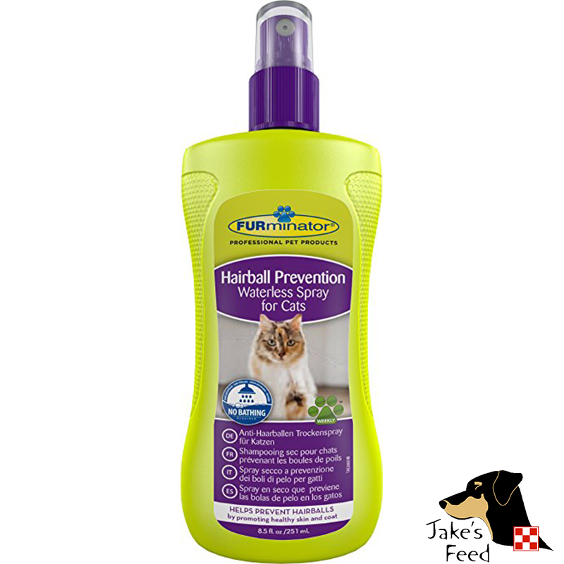 FURMINATOR DESHEDDING WATERLESS HAIRBALL PREVENTION SPRAY FOR CATS 8.5 OZ.