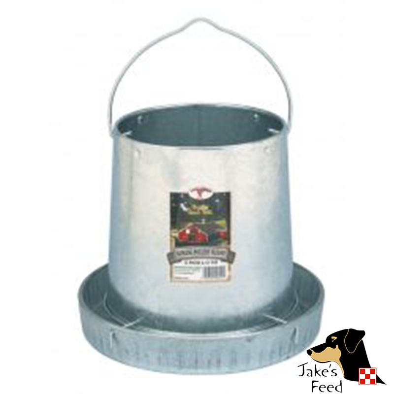 HANGING POULTRY FEEDER GALVANIZED