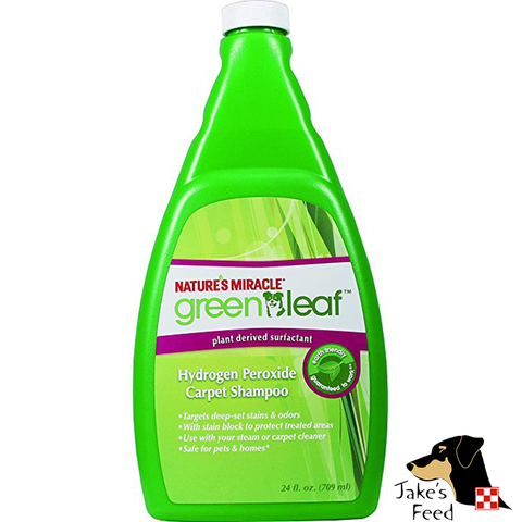 GREEN LEAF HYDROGEN PEROXIDE CARPET SHAMPOO 24 OZ.
