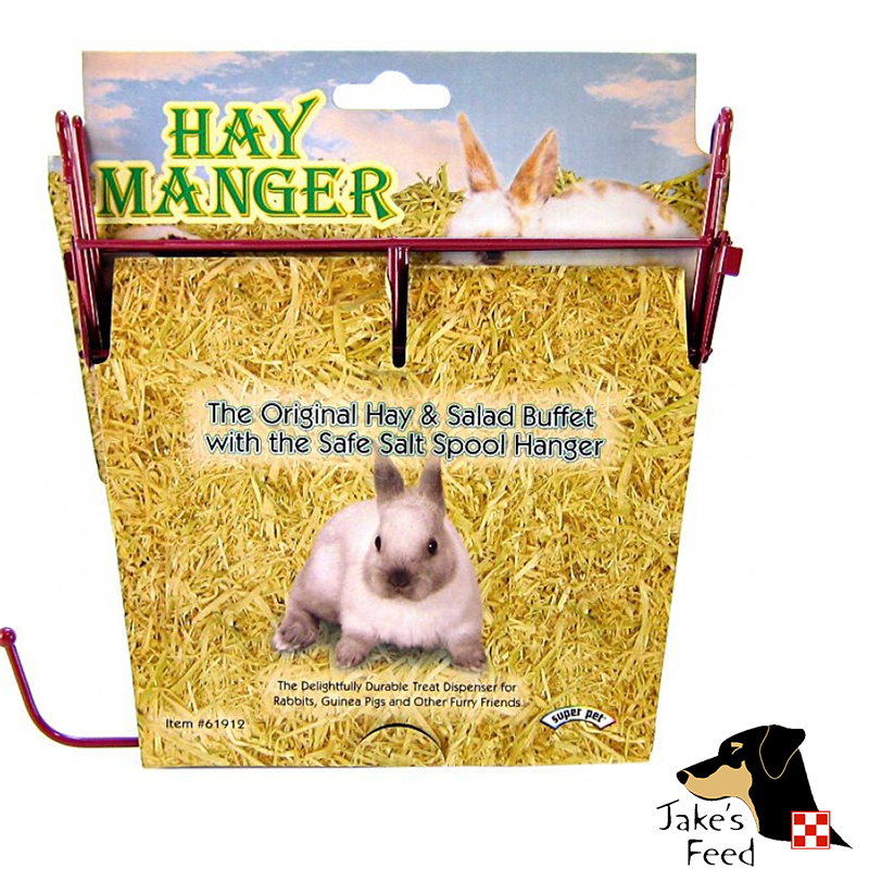 HAY MANGER WITH SALT SPOOL HANGER