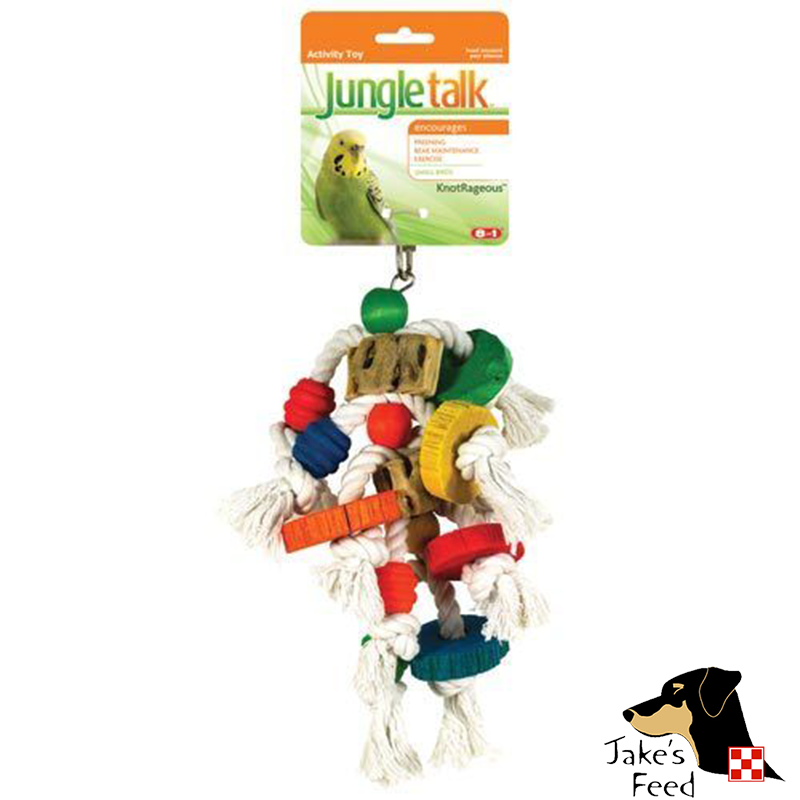 JUNGLE TALK KNOTRAGEOUS MEDIUM BIRD TOY