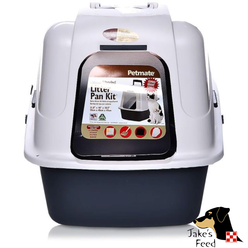 PETMATE DELUXE HOODED LITTER PAN SET