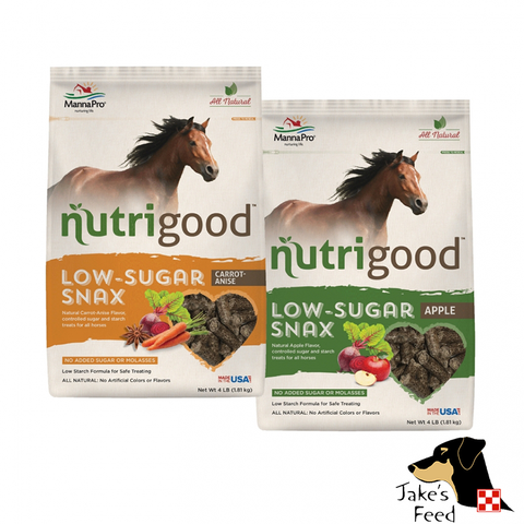 MANNA PRO NUTRIGOOD LOW SUGAR HORSE TREAT 4#