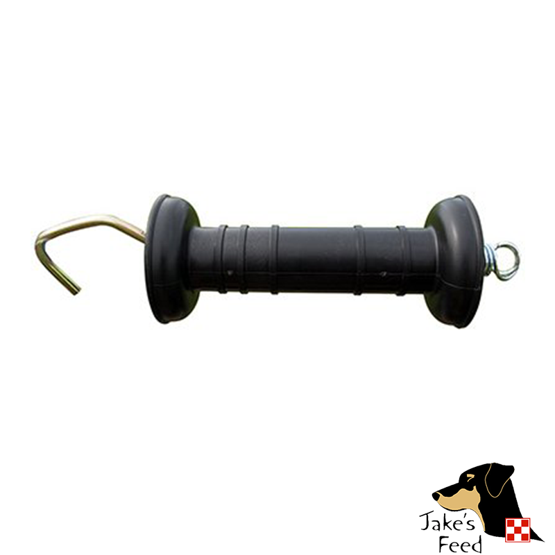 PATRIOT ELECTRIC FENCE GATE HANDLE, INSULATED BLACK PLASTIC