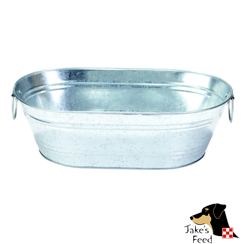 Galvanized Oval Tub Jakes Feed And Animal Center
