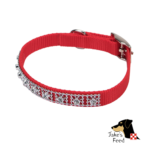 "VALHOMA NYLON 3/8"" JEWELED PET COLLAR"