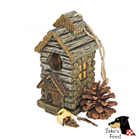 BACKWOODS CABIN BIRD HOUSE