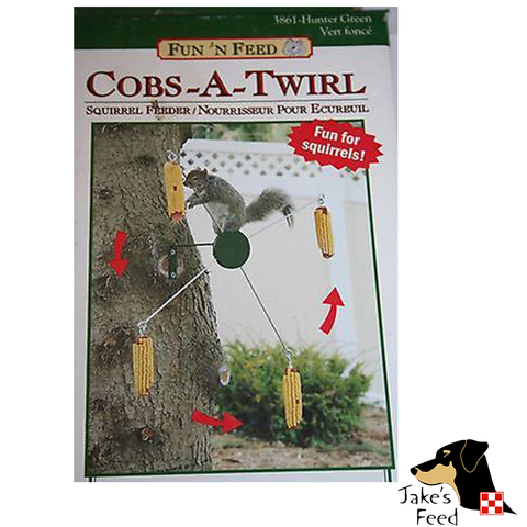 COBS-A-TWIRL SQUIRREL FEEDER
