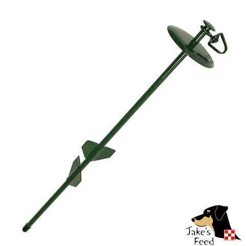 "DOME TIE OUT STAKE 20""  GREEN"
