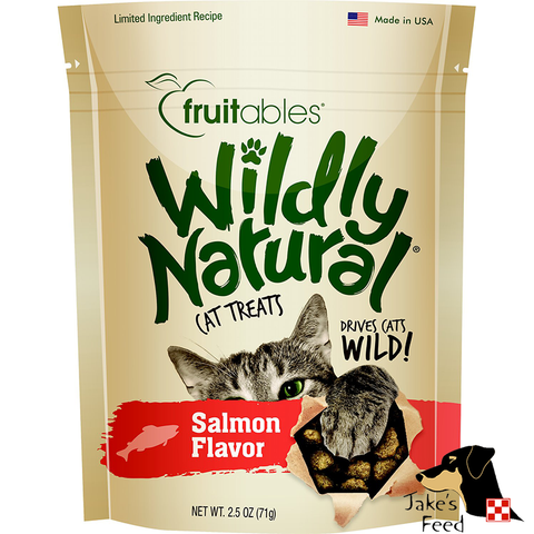 FRUITABLES WILDLY NATURAL SALMON CAT TREATS 2.5 OZ.