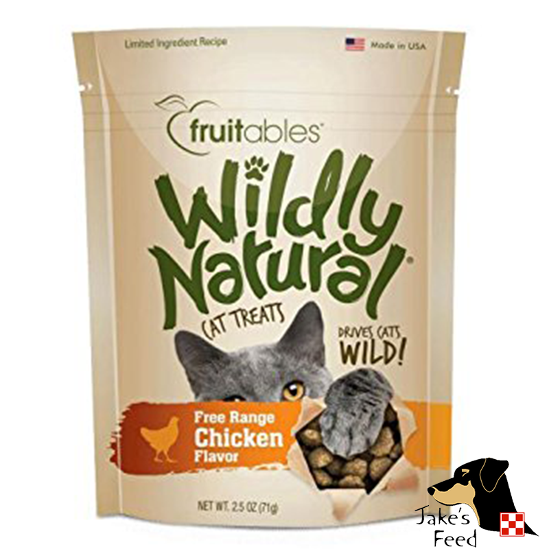 FRUITABLES WILDLY NATURAL CHICKEN CAT TREATS 2.5 OZ.