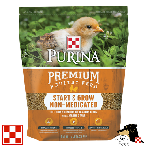 Purina Start & Grow Non-Medicated Crumbles Chicken Feed