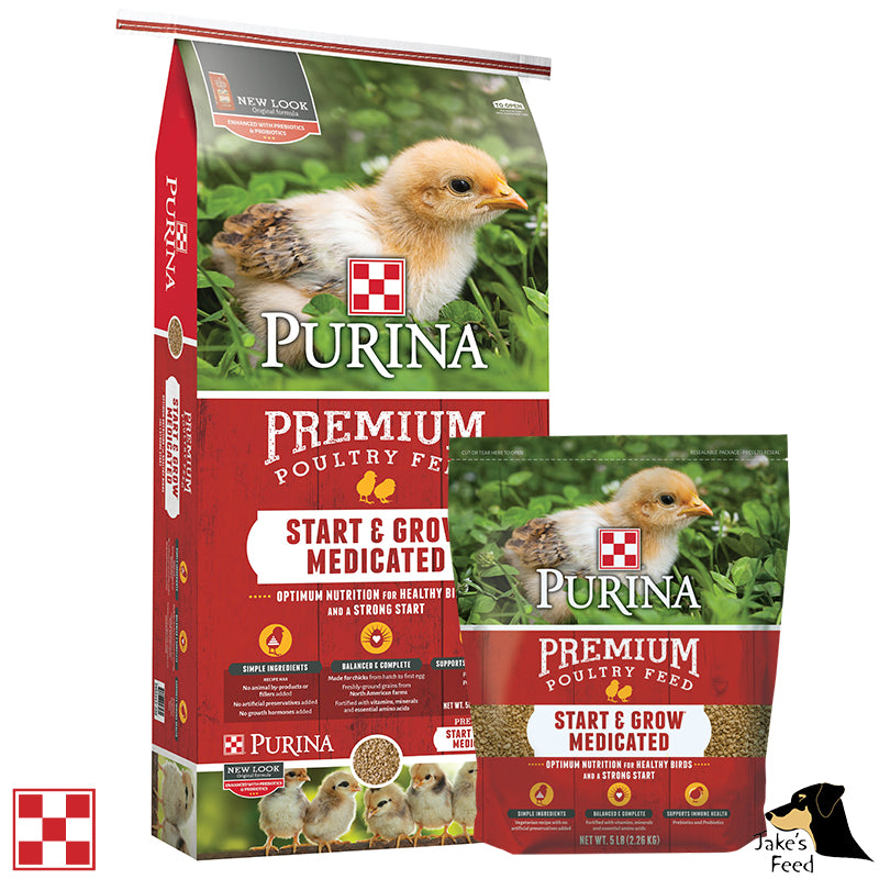 Purina Start & Grow AMP .0125 Crumbles Chicken Feed