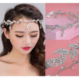 Bridal Flower Crystal Rhinestone Wedding Headband Tiara Crown Silver Plated