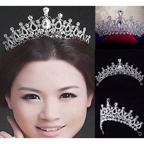Bridal Wedding Rhinestone-Crystal Tiara Princess Prom Crown