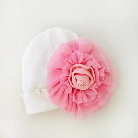 New Born Infant Baby Girl Lace Beanies Hat