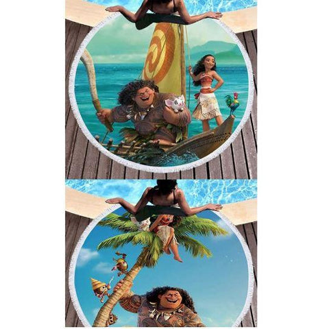 LARGE ROUND MOANA BEACH TOWEL