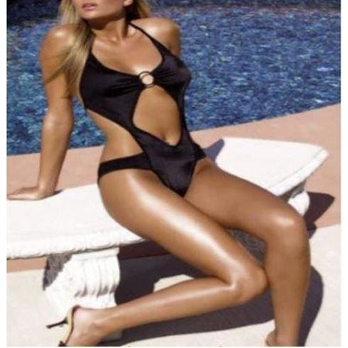 ce23cc964f Ladies exposed belly bikini ladies harness sexy tight swimsuit ...