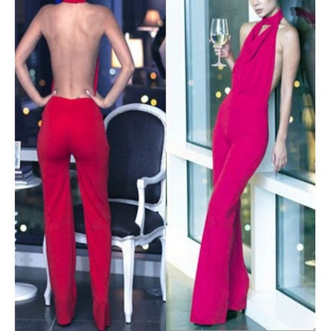 Sexy Jumpsuit Backless Club Party Dress