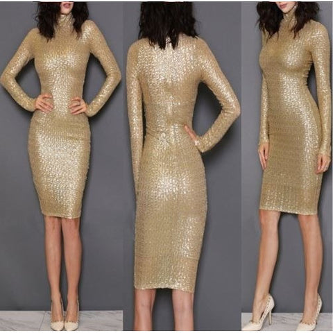 Sexy Sequin Gold Slim