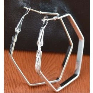 Fashion 925 silver hoop earrings