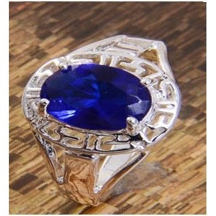 925 silver Sapphire wedding ring size 7