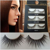 3 Pairs Natural Eye Lashes Makeup Handmade Thick Cross False Eyelashes 3D