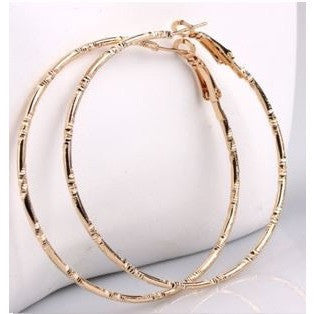 Gold Color Jewelry Charm Hoop Earrings