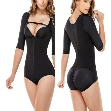 Pure Black Push Up Half Sleeve Shapewear