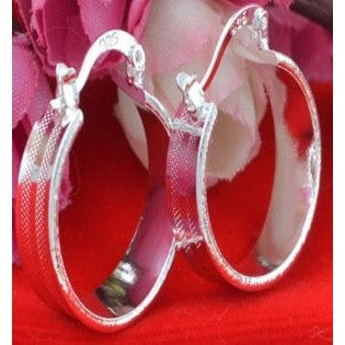 1pair Jewelry Fashion 925 silver hoop earrings