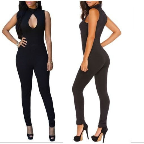 Black Pee-hole Bust Sleeveless Jumpsuit Item